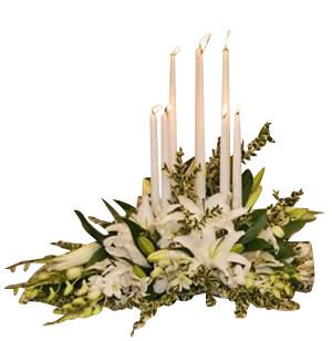 Memorial Arrangement Taper Candle